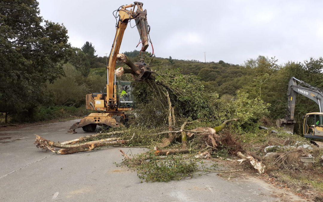 Empezaron as obras de construción do novo acceso á autovía AG-53 dende Dozón