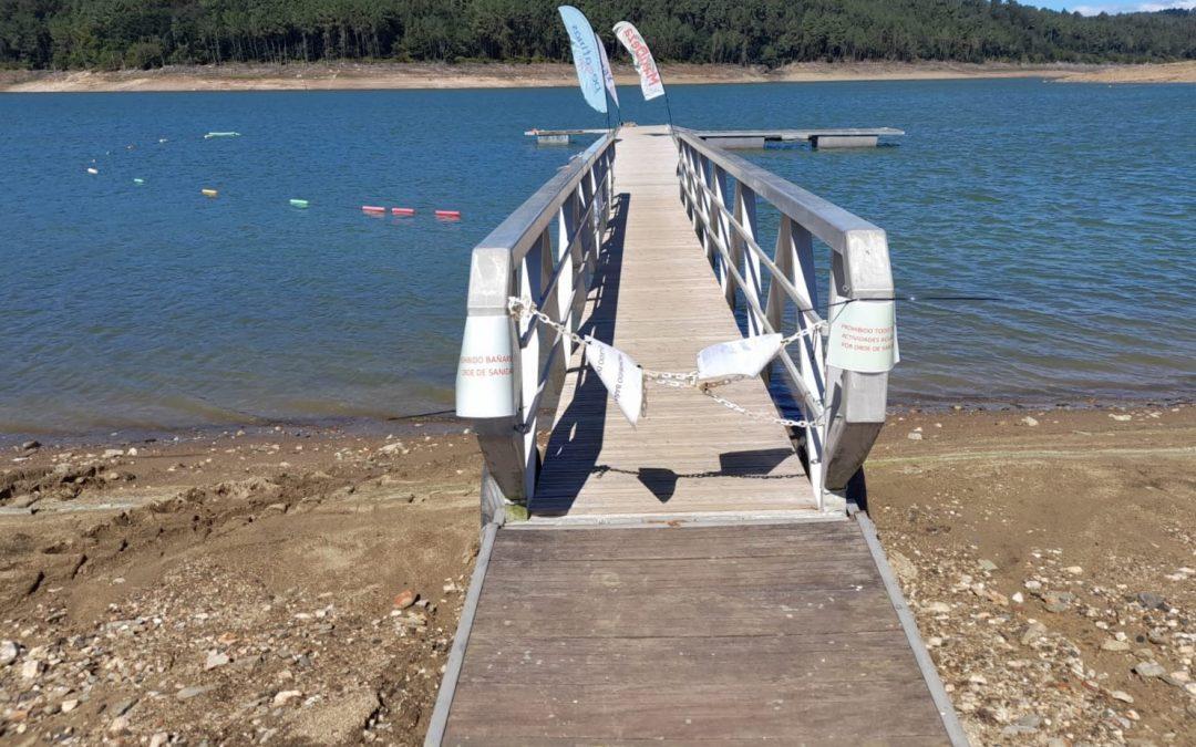Prohiben o baño e as actividades acuáticas no encoro de Portodemouros pola presenza dunha toxina