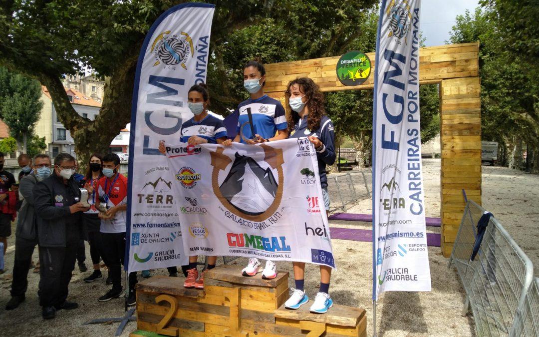 "As Galaicas superan ""o desafío"" e quedan terceiras no campionato galego por equipos de trail"